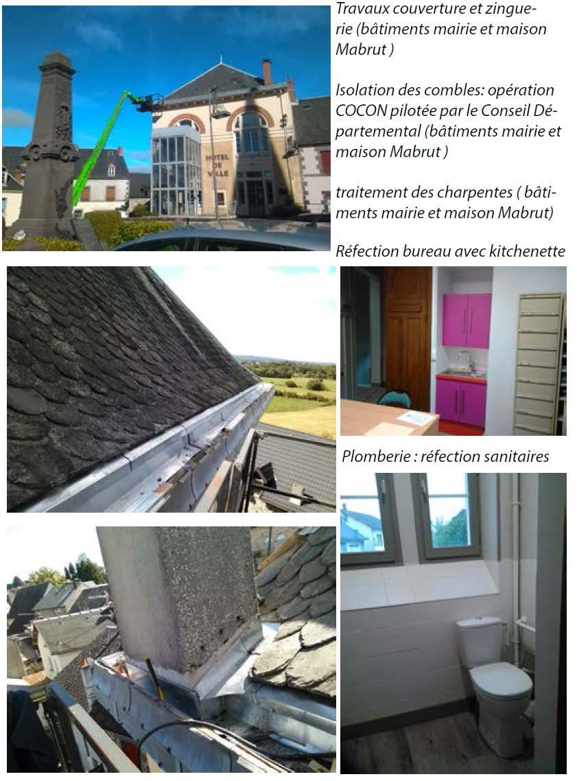travaux mairie secretariat toiture charpente